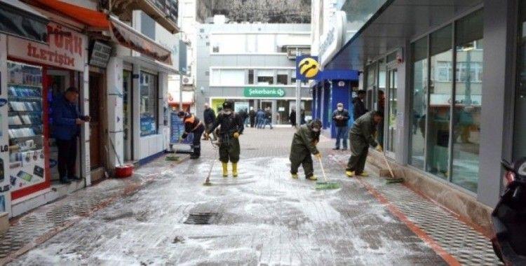 Kdz. Ereğli'de Cadde ve sokaklar yıkanıyor