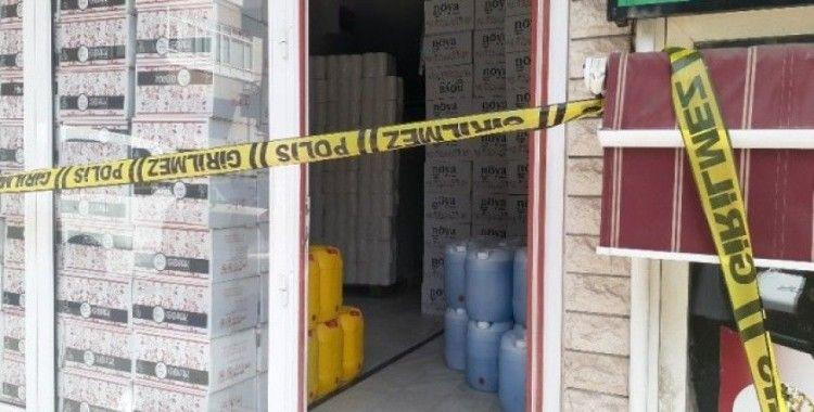 Keçiören'de 3 ton sahte dezenfektan ele geçirildi