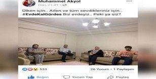 """Başkan Akyol'dan """"Evde kal Gördes"""" çağrısı"""