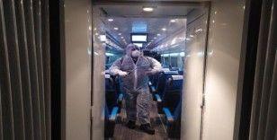 (Özel) Yüksek hızlı tren titizlikle dezenfekte ediliyor