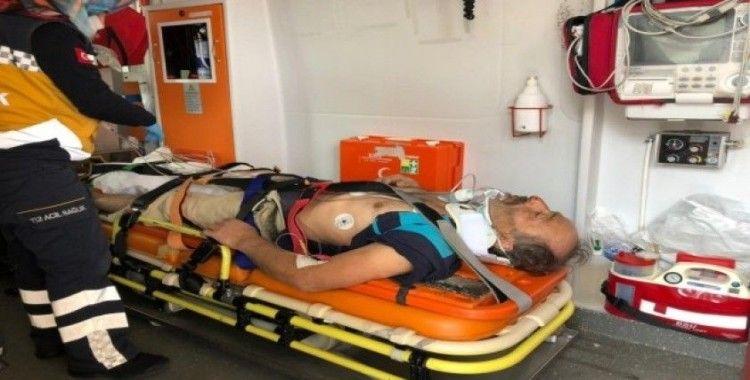 12 metreden düşen inşaat işçisi ağır yaralandı