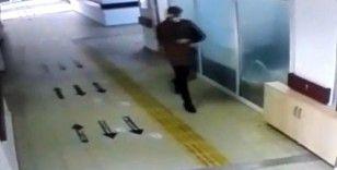 Hastanede dezenfektan hırsızlığı kameraya yansıdı