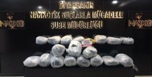 Diyarbakır'da 114 kilo esrar ele geçirildi