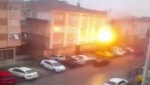 Ankara'da elektrik direğinde patlama