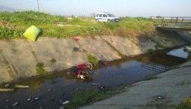 Manisa'da motosiklet kanala uçtu: 1 ölü