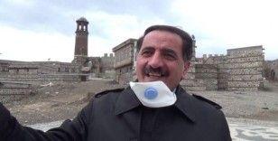 Erzurumlu sanatçı 'evde kalın' çağrısı yaptı