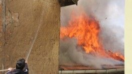Domaniç'te ev yangını