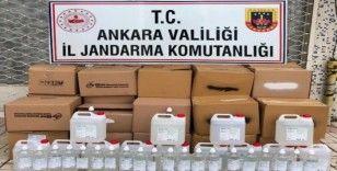 Ankara'da 657 litre kaçak dezenfektan ele geçirildi