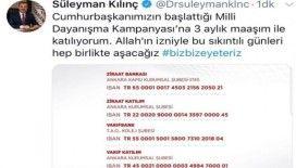 Başkan Süleyman Kılınç, 3 aylık maaşını bağışladı