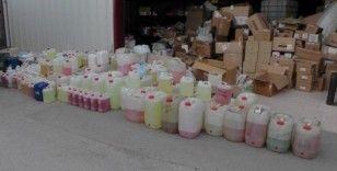 Erzincan'da sahte kolonya ve kişisel bakım ürünü operasyonu
