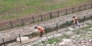 Kahta'da park ve bahçelerde hummalı dezenfekte çalışmaları