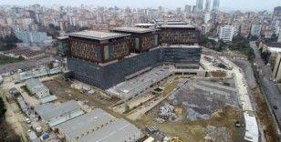 (Özel) İnşaatında sona gelinen Göztepe Şehir Hastanesi havadan görüntülendi