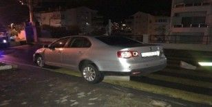 Alkollü sürücü bariyerleri kırdı, kaçamadan yakalandı