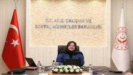 Aile, Çalışma ve Sosyal Hizmetler Bakanı Selçuk'tan telekonferanslı toplantı