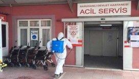 Saruhanlı Devlet Hastanesi dezenfekte edildi