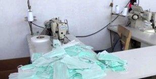 Trabzon'da 190 bin yarı mamül maske ele geçirildi