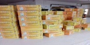 Kocaeli'de kaçak üretilen 5 bin adet maske ele geçirildi
