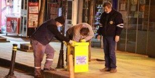 Kırıkkale'de toplum sağlığı için tıbbi atık kutuları yerleştirildi