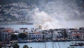 Bodrum'da restoran alev alev yandı