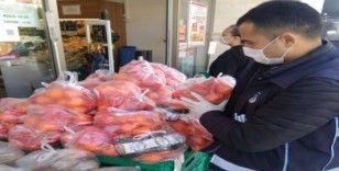 Poşette çürük sebze satışına ceza yağdı