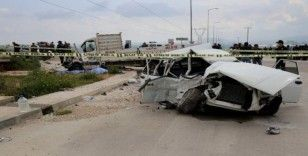 Tarlaya giden anne-kız, trafik kazasında hayatını kaybetti