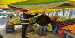 Türkeli'deki pazar yerinde önlemler artırıldı