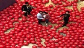 Eşinden, Elmira Namazova'ya 10 bin balonla evlilik yıl dönümü kutlaması