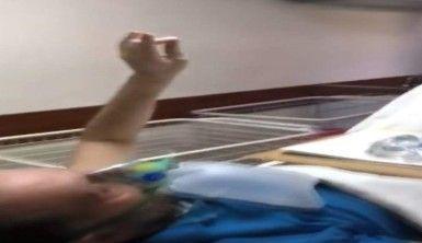 MHP'li meclis üyesi, yoğun bakımdan bozkurt işaretiyle çıktı