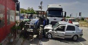 Bafa'da zincirleme trafik kazası: 2 yaralı