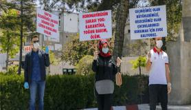 Van'da üniversite öğrencileri Kovid-19'a dikkati çekmek için yürüyüş yaptı