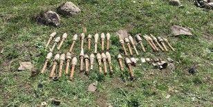 Van'da PKK'lı teröristlere yönelik operasyonda roketatar mühimmatları bulundu