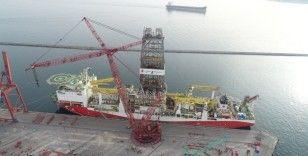 Fatih sondaj gemisi havadan görüntülendi
