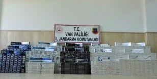 Çaldıran'da 20 bin paket kaçak sigara ele geçirildi