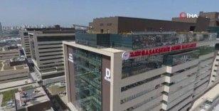 Başakşehir Şehir Hastanesi'nin son durumu havadan görüntülendi