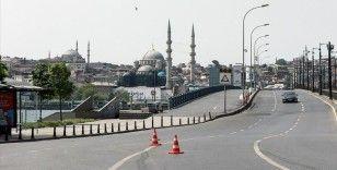 Sokağa çıkma kısıtlamasının 3. gününde İstanbul sessizliğe büründü