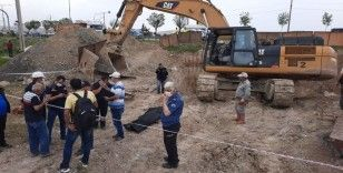 Afyonkarahisar'da yol çalışmasında göçük: 1 kişi enkaz altında