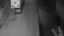 Keşif yapıp bisiklet çalan hırsız güvenlik kamerasına yakalandı