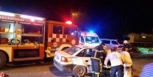 Kütahya'da iki otomobil çarpıştı: 7 yaralı