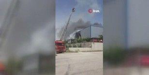 Başkentte medikal fabrikasında yangın