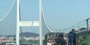 FSM Köprüsü üzerinde tehlikeli yolculuk