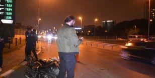 Devrilen motosikletten uyuşturucu çıktı