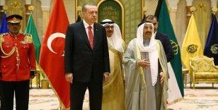 Cumhurbaşkanı Erdoğan, Kuveyt Emiri Şeyh Sabah el-Ahmed el-Cabir es-Sabah ile görüştü