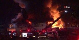 İstanbul Finans Merkezi şantiyesi yangın çıktı