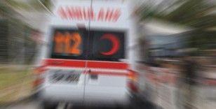 Bekçilerin bulunduğu otomobil şarampole yuvarlandı: 5 yaralı