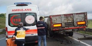 Yalova-Bursa yolunda kaza