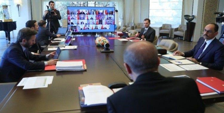 Cumhurbaşkanlığı Kabinesi 9'uncu kez video konferansla toplandı