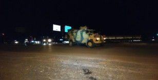 Suriye sınırına askeri araç ve malzeme sevkiyatı