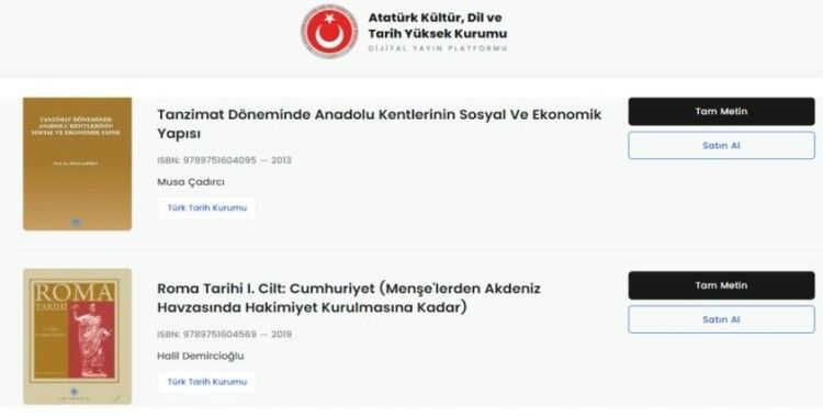 Atatürk Kültür, Dil ve Tarih Yüksek Kurumu yayınlarını uzaktan erişime açıyor