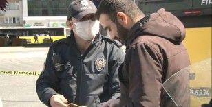 Sigortalı olduğunu ispat edemeyen kurye ile polis arasında tartışma