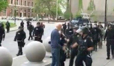 ABD'de polisin ittiği yaşlı adam kafa travması geçirdi